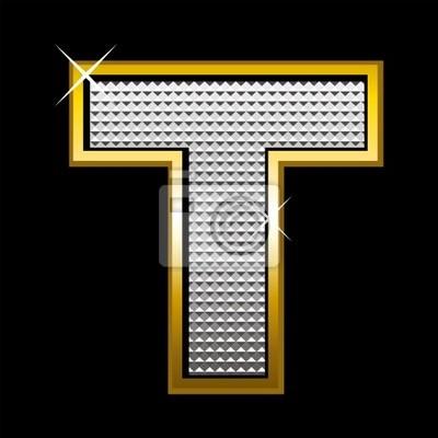 Bling bling Schrift type_letter T
