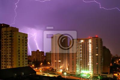 Blitz in der Stadt