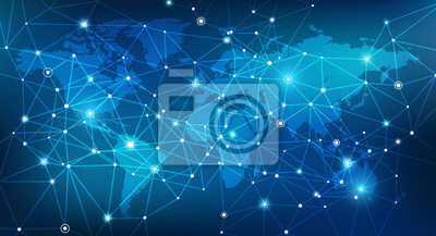Bild Blockchain network / digitalization / global infrastructure concept design