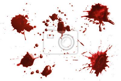 Bild Blood dripping set, isolated on white background