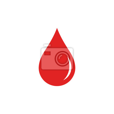 Bild Blood drop. Vector. Isolated.