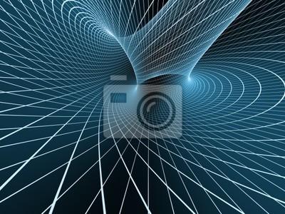 Blue abstract 3d Hintergrund aus einem Raster