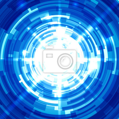 Blue Abstract Technology Background.