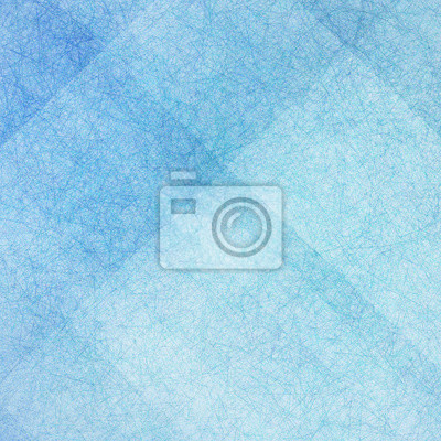 Bild blue background with white angled blocks and stripes in abstract pattern with vintage scratch texture design and faint detailed brush strokes