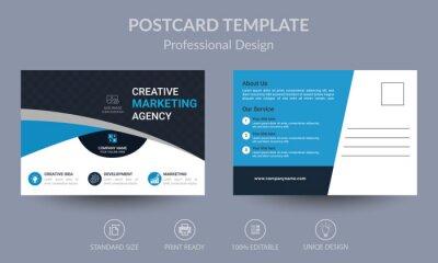 Bild Blue Corporate business postcard or EDDM postcard design template