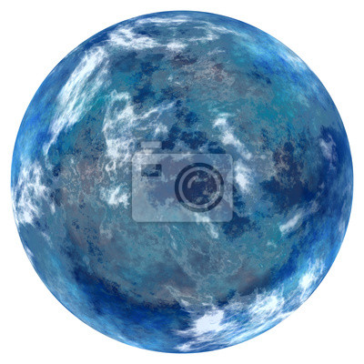 Bild blue planet isolated on a white background