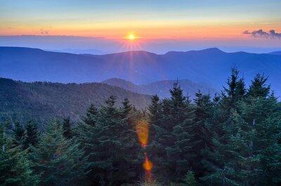 Bild Blue Ridge Parkway Autumn Sunset over Appalachian Mountains