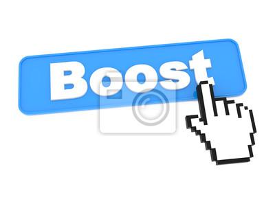 Blue Web Buttons mit Word-Boost auf sie.