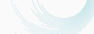 Bild Blue white minimal round lines abstract futuristic tech background. Vector digital art banner design