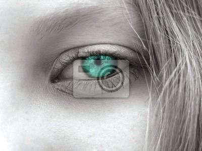 Bluegreen Augen