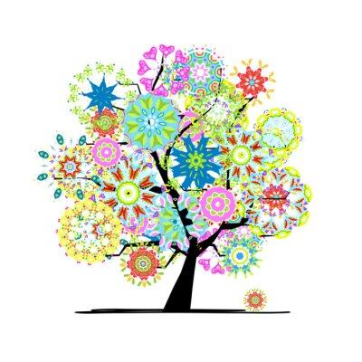 Bluhender Baum Fur Ihr Design Leinwandbilder Bilder Gemalt