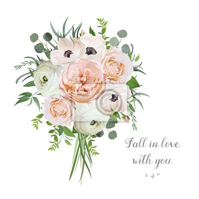 Blume Blumen Vektor Blumenstrauss Garten Rosa Rose Anemone Ranunculus