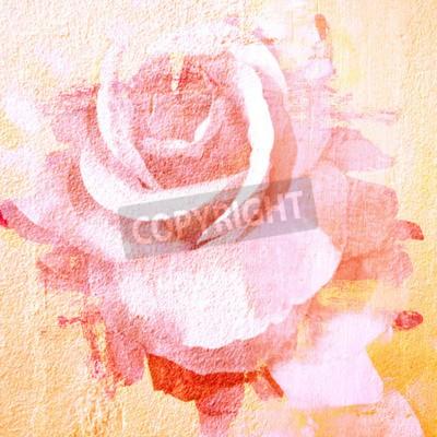Bild Blume schöne Rose, Kunst Farbe Illustration für Hintergrund