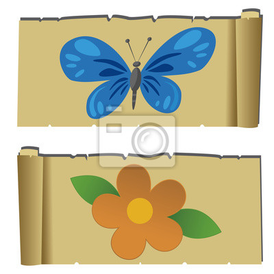 Blume und buttlerfly