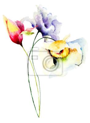 Blumen Aquarell-Illustration
