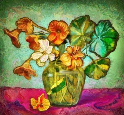 Bild Blumen Glasvase