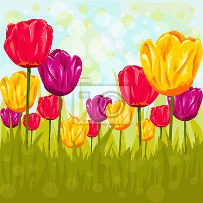 Blumen Hintergrund mit Tulpen