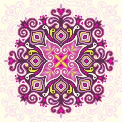 Bild Blumen-Mandala. Abstraktes Element für Design