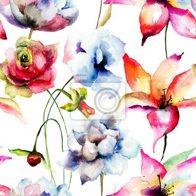 Blumen nahtlose Tapete