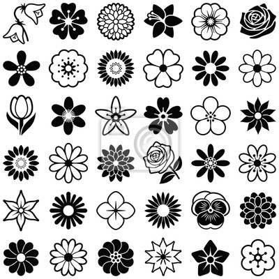Bild Blumen-Symbol-Sammlung - Vektor-Illustration