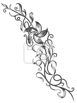 Blumenranke Tattoo Vorlage Leinwandbilder Bilder Talkshow