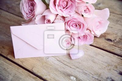 Blumenstrauss Rosa Rosen Valentinstag Hochzeit Muttertag