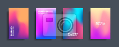 Bild Blurred backgrounds set with modern abstract blurred color gradient patterns. Templates collection for brochures, posters, banners, flyers and cards. Vector illustration.