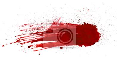 Bild Blut Splatter gemalt Vektor isoliert auf weiß für Design. Rot tropfender Blutabfall
