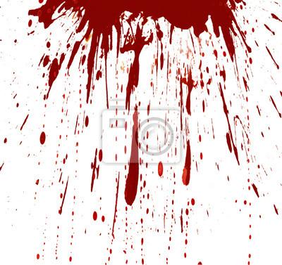 Bild Blut spritzte weißen Hintergrund