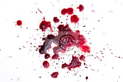Bild Blut tropft auf weiß
