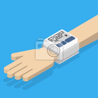 Bild Blutdruckmessgerät zur Hand.