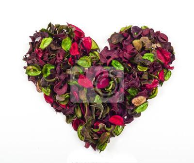 Blütenblätter Herzen isoliert