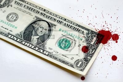 Bild Blutgeld Dollar