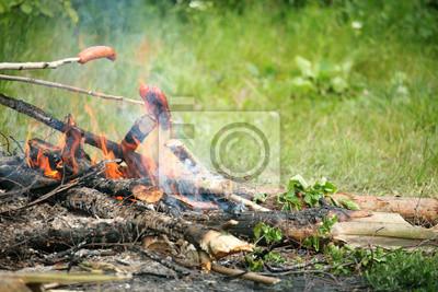 Bild Bonfire Lagerfeuer Feuer Flames Grillen Grillsteak