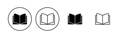 Bild Book icon set. open book icon vector. ebook icon