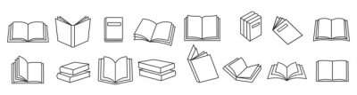 Bild Book icons set in thin line style, isolated on white background, vector illustration.
