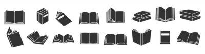 Bild Book icons set, logo isolated on white background, vector illustration.