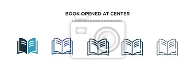 Bild book opened at center icon in different style vector illustration. two colored and black book opened at center vector icons designed in filled, outline, line and stroke style can be used for web,