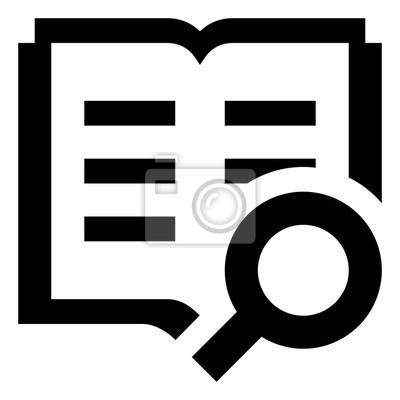 Bild Book Search Vector Icon