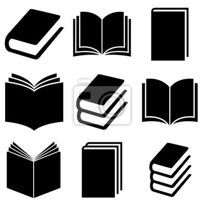 Bild Book set icon, logo isolated on white background