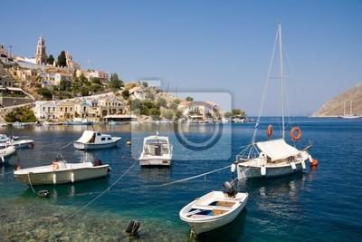 Bild Boote in der Bucht von Symi