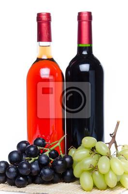 Bild Bootles Wein mit schwarzen und weißen Trauben