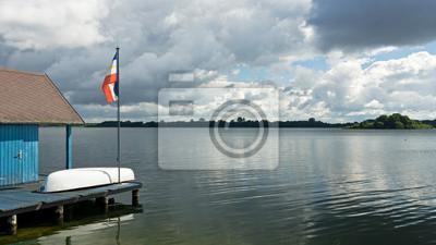 Bootshaus am Schaalsee mit Insel