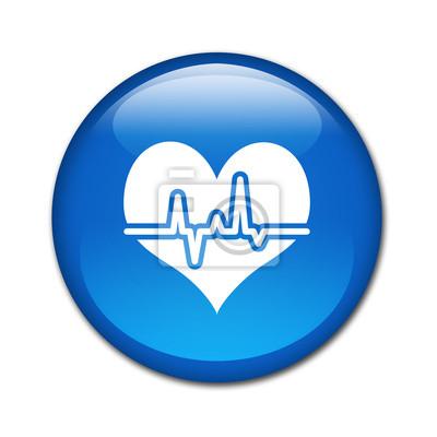 Boton brillante simbolo Latido cardiaco