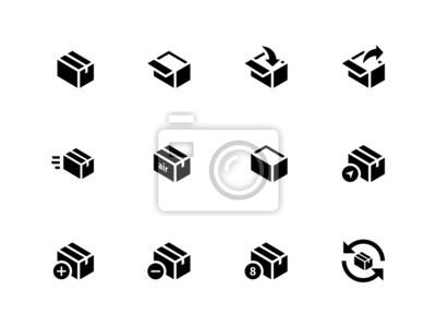 Box Icons auf weißem Hintergrund.
