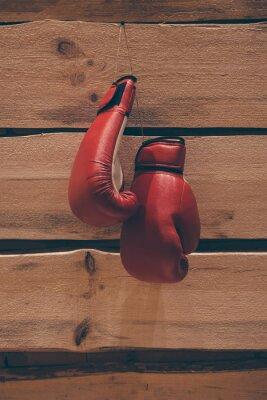 Bild Boxhandschuhe an der Wand.