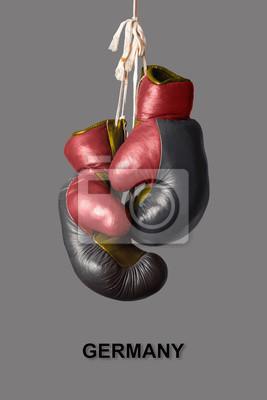 Boxhandschuhe in der Farbe von Deutschland