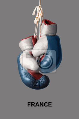 Boxhandschuhe in der Farbe von Frankreich