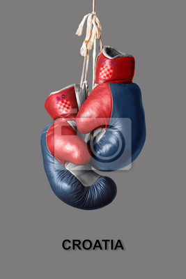 Boxhandschuhe in der Farbe von Kroatien