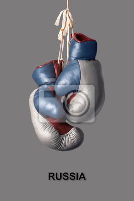 Boxhandschuhe in der Farbe von Russland